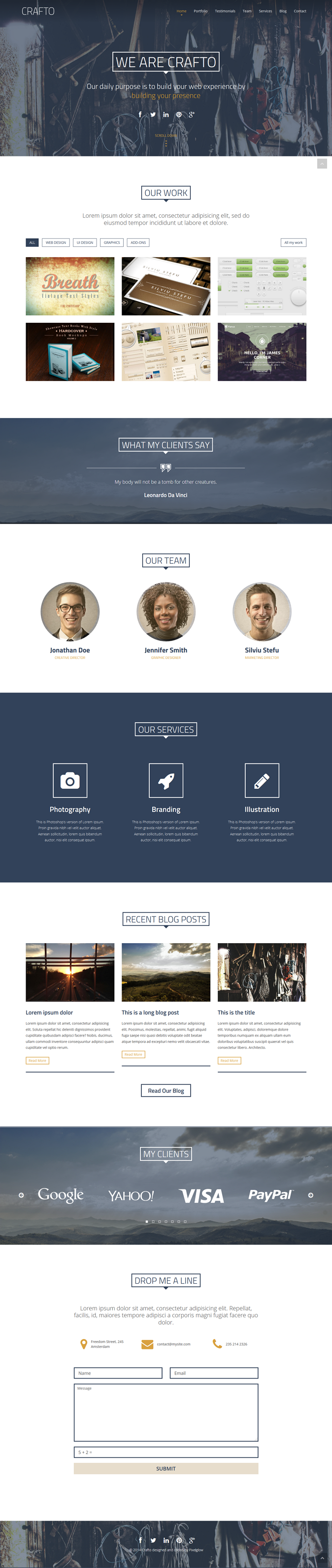 Crafto HTML is a responsive template built on Twitter Bootstrap 3 framework. It's a one-pa ...