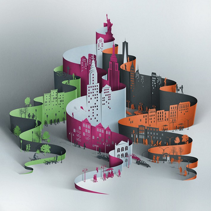 Creative Papercut Illustrations by Eiko Ojala | Downgraf