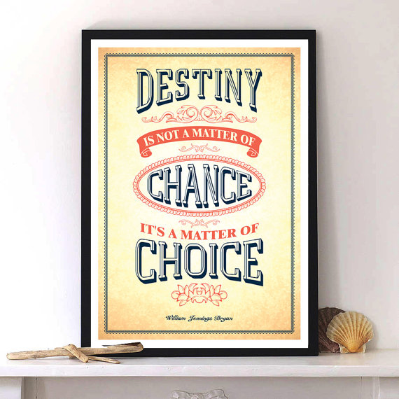 William Jennings Bryan quote with Inspirational Typographic print art by LabNo4