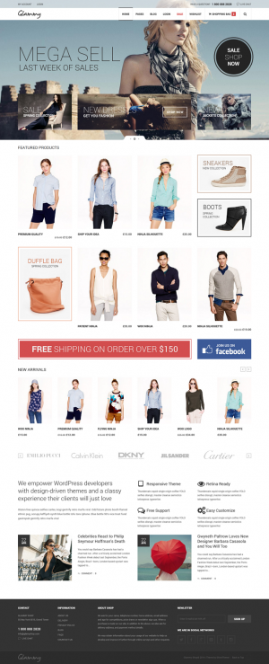 Glammy is a eCommerce Premuim WordPress Theme With combination of colors and beautiful images ma ...