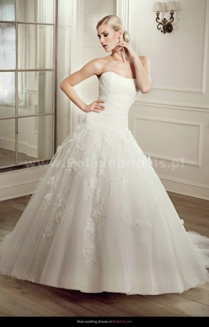 style 338.00 – Elianna Moore EM 1209 Wedding Gown,The empire waistline is defined with a r ...