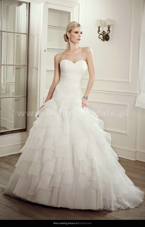 style 338.00 – Elianna Moore EM 1210 Wedding Gown,scooped neckline and fitted,A single sho ...