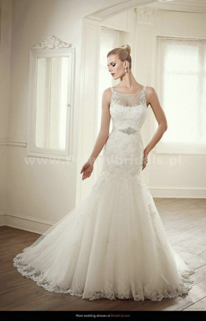 style 342.00 – Elianna Moore EM 1212 Wedding Gown,The dropped waist is accented using a ru ...