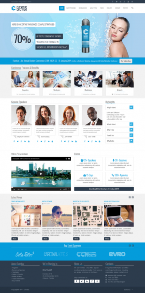 Eventus is a clean and modern event oriented Drupal 7 Theme. Eventus comes with 3 dedicated home ...