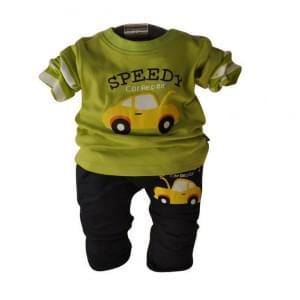 fashion baby clothing set car cartoon boy suit t-shirt+pants 2pcs autumn infant homewear