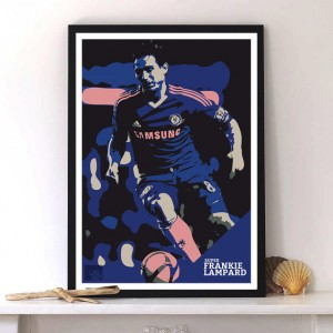Frank Lampard Chelsea  print Modernart  Typography poster by Lab No. 4