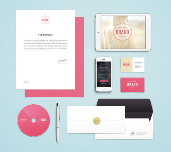 stationery, identity, logo, branding, mock-up