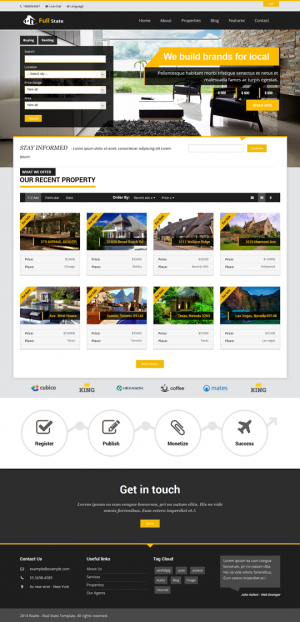 This collection of the 12 Amazing WordPress Real Estate themes