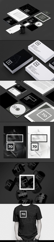 Graphic Black and White Brand Identity | Branding | Pinterest