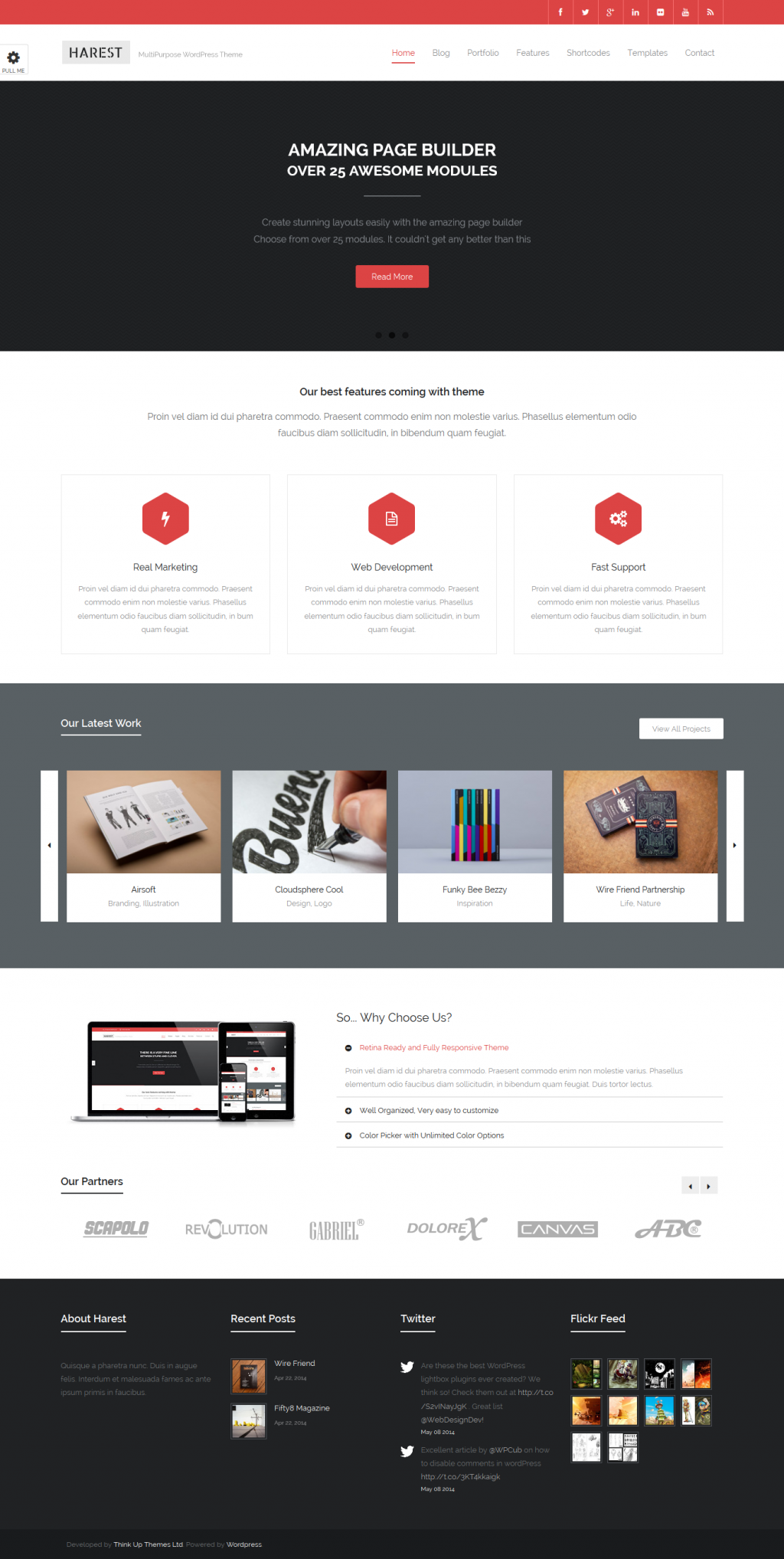Harest is a stunning Responsive WordPress Theme