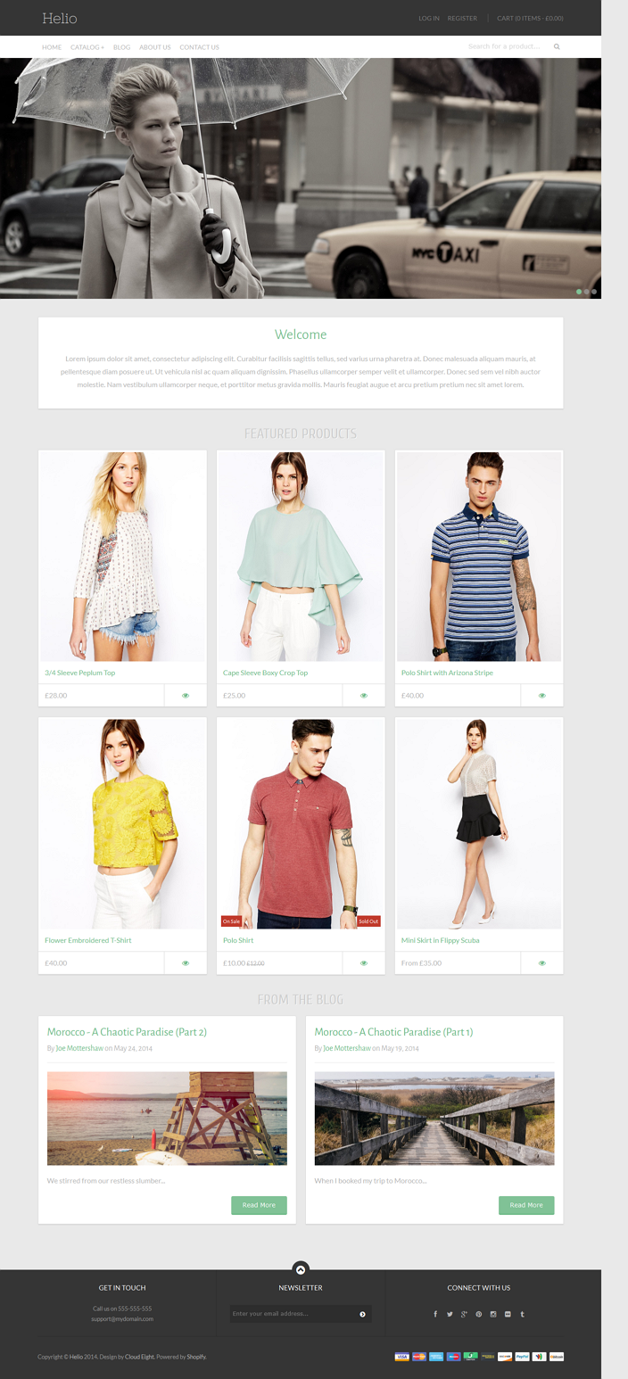 Helio is an elegantly crafted and fully responsive Shopify eCommerce theme built on the Backbone ...