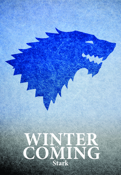 Game Of Thrones, typography poster on Stretched Canvas by Lab No. 4