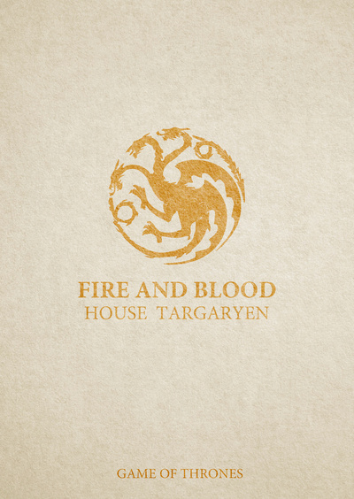 Game of Thrones,typography Poster on a Stretched Canvas by Lab No. 4
