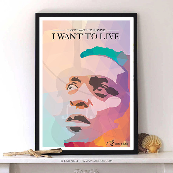 12 Years a Slave Movies Characters Poster