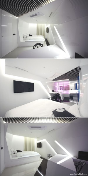 Crystal Inspired Minimal Hotel Room, South Korea | adelto.co.uk