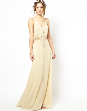 Jarlo | Jarlo Cami Strap Maxi Dress with Lace Insert at ASOS