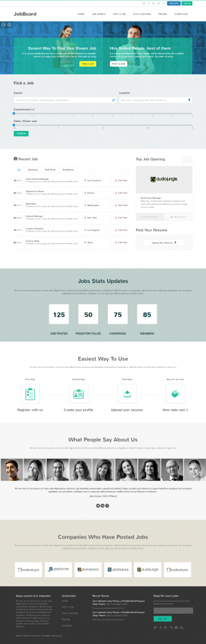 JobBoard is a job listing, job directory and job market HTML template which has nice clean and f ...