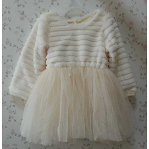 Kids Girls Soft Cotton Linning Dresses Girl Lace Beading Party Dress