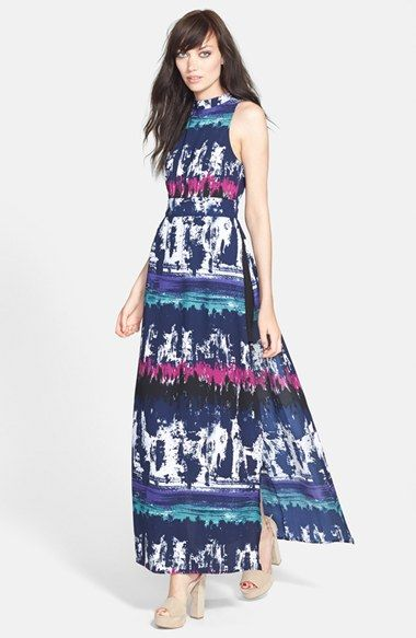 Leith Side Slit Maxi Dress // @Nordstrom | Loves | Pinterest