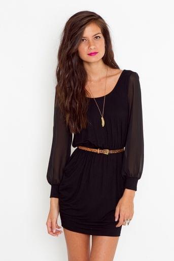 Lily Lattice Dress – Black