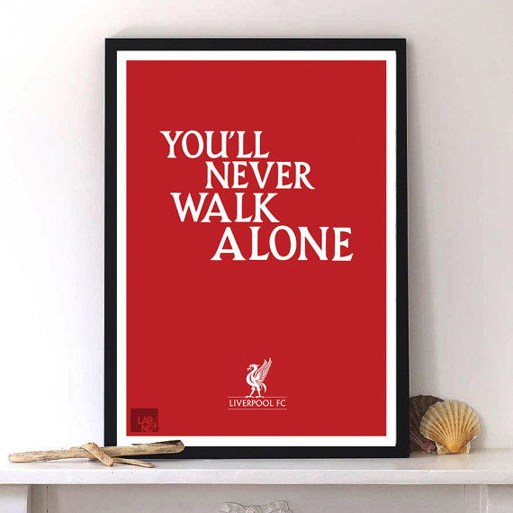 Liverpool poster with Modernart typography print by Lab No. 4