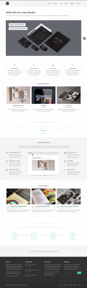 Loom is a flat and responsive WordPress Theme with a clean and professional design which will be ...