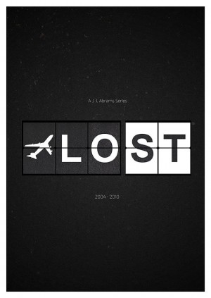 Lost Tv Show Poster – Minimalist Art Print inspired by J. J. Abrams 2…