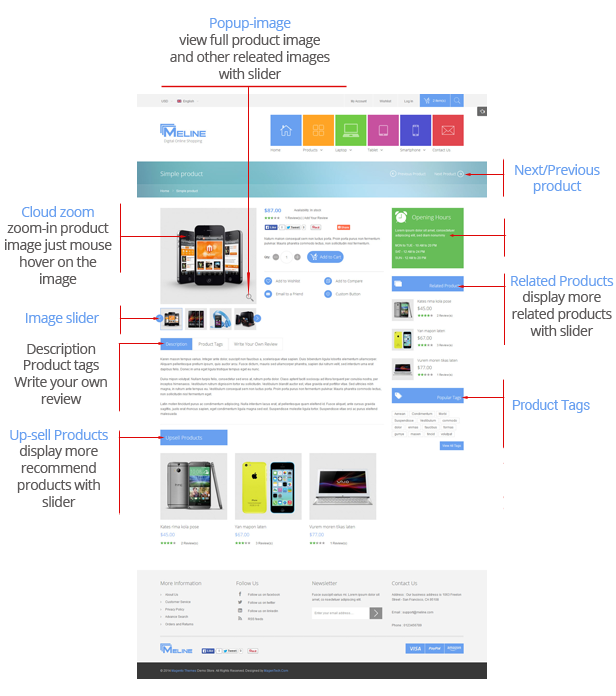 Meline is a Magento Theme was built according to the idea of a big e-commerce website with multi ...