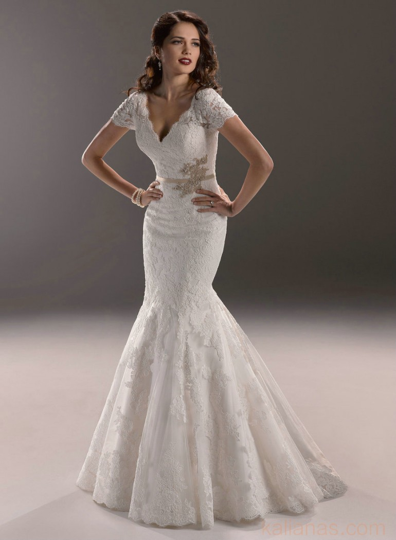 wedding Photo – style 324.00 bridal gown – Style Maggie Sottero Veda 3MW784 V-Neck s ...