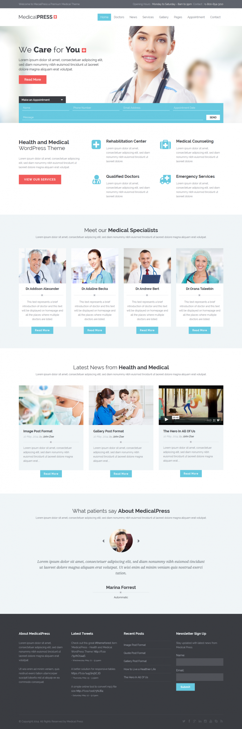 MedicalPress is a premium WordPress theme for Health and Medical websites. It is a highly suitab ...