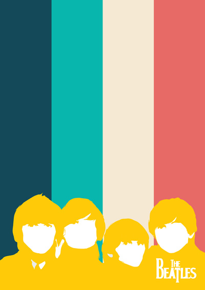 Minimalist personalities of Rock Band on Stretched Canvas by Lab No. 4