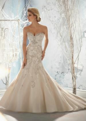 wedding Photo – style 358.00 mori lee 1953 Beaded, Raised Embroidery on Net with Taffeta E ...