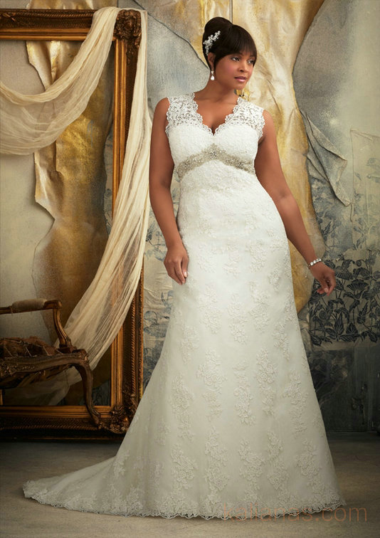 wedding Photo – style 317.00 mori lee 3131 Venice Lace Appliques on Net Trimmed with Beade ...