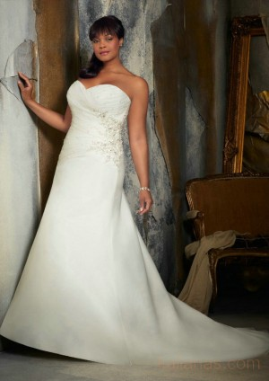 wedding Photo – style 354.00 mori lee 3132 Crystal Beaded Embroidery on Organza For you,si ...