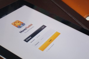iPad login screen