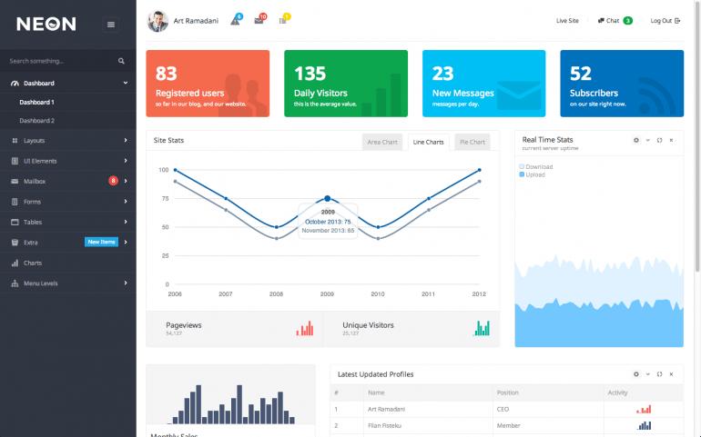 Neon – Bootstrap Admin Theme