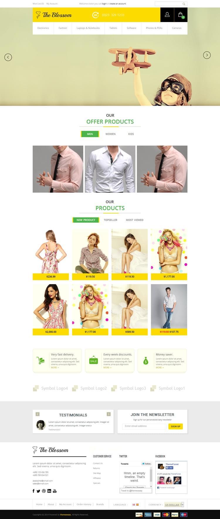 #fashion, ecommerce, yellow