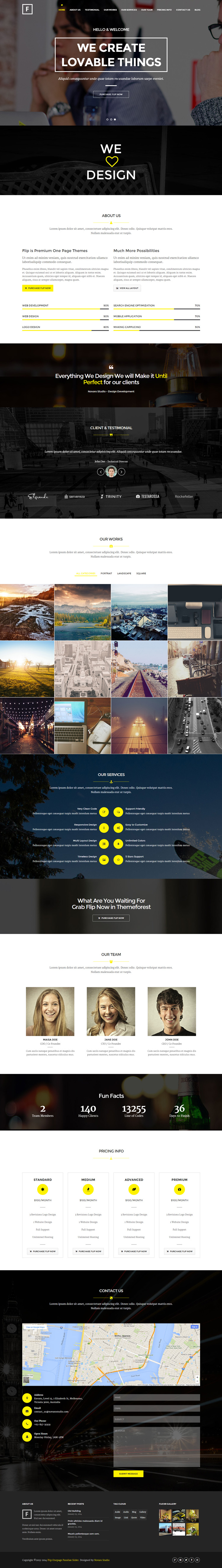 yellow, black, flat, one page, #concept