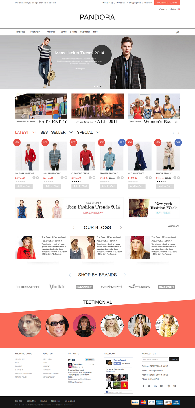 Pandora is fully responsive Opencart theme with dozens of features and hundreds of customization ...