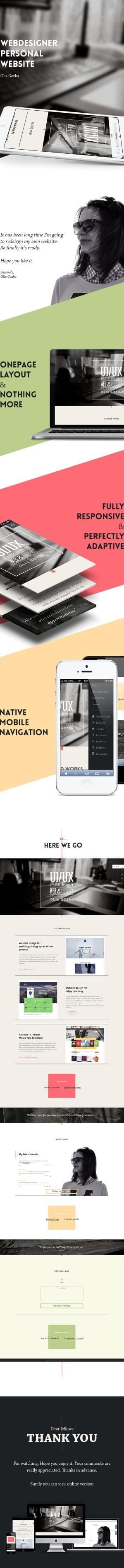 Personal website. Olia Gozha on Behance
