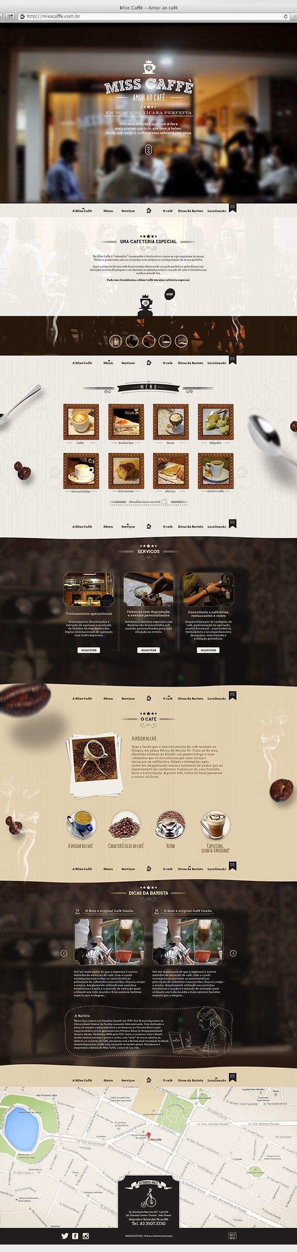 Website for cafeteria in João Pessoa / Paraíba / Brazil.