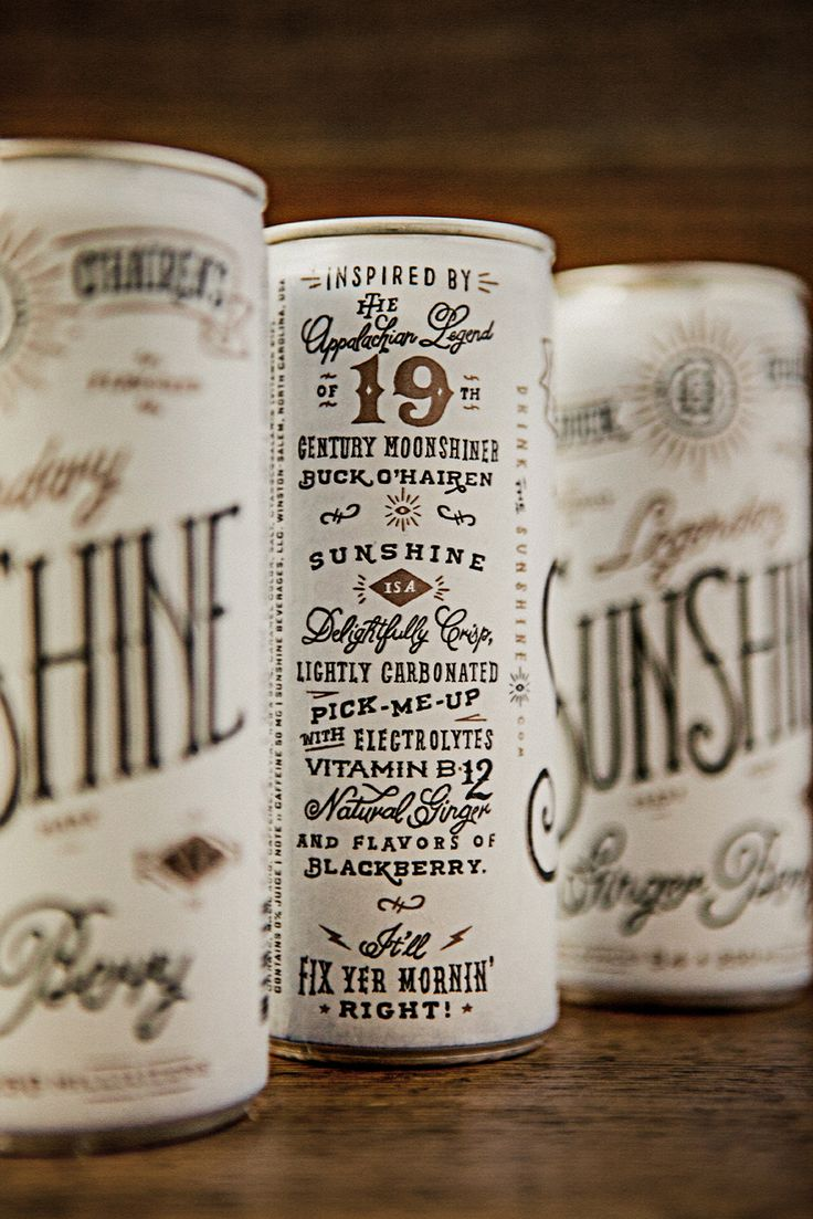 Buck O'Hairen's Sunshine  – Design – Typography