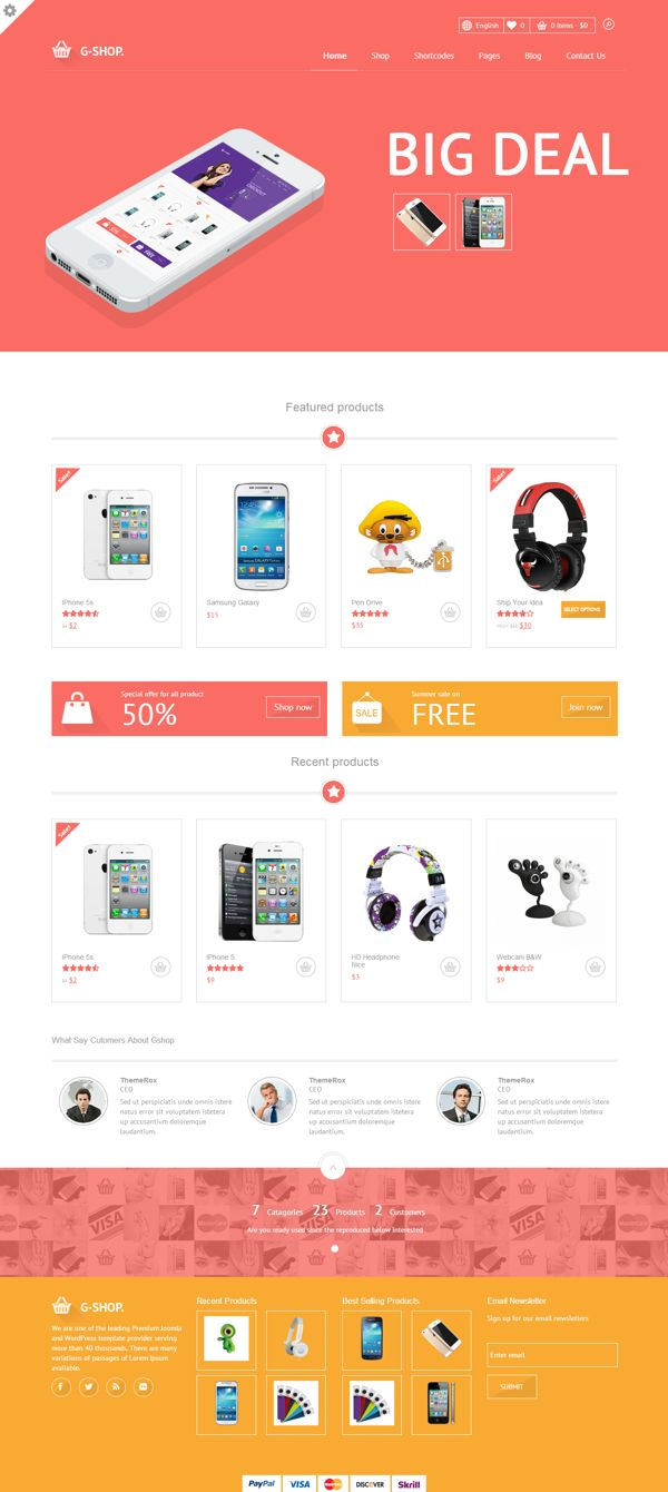 Gshop Advance Featured E-commerce Theme