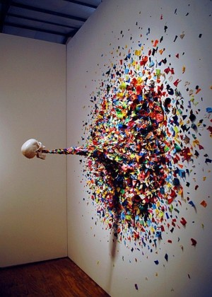 Miami-based Typoe created this insane piece earlier in the year titled Confetti Death