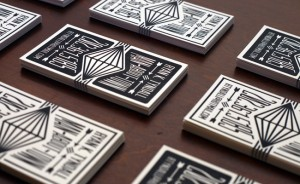 Business card letterpress and design services by Print & Grain.