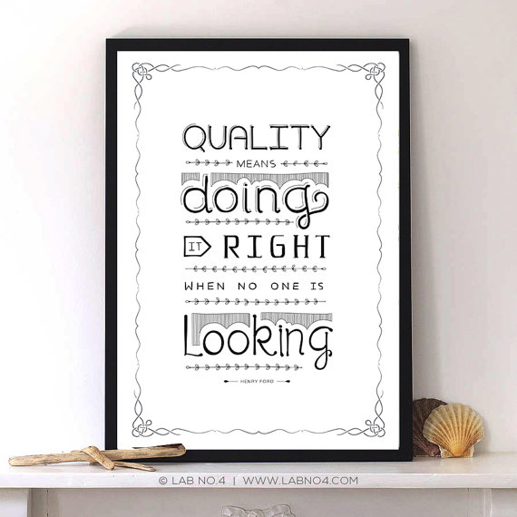 A  Henry ford Inspirational Quote with hand lettering and Modern typography by Lab No. 4