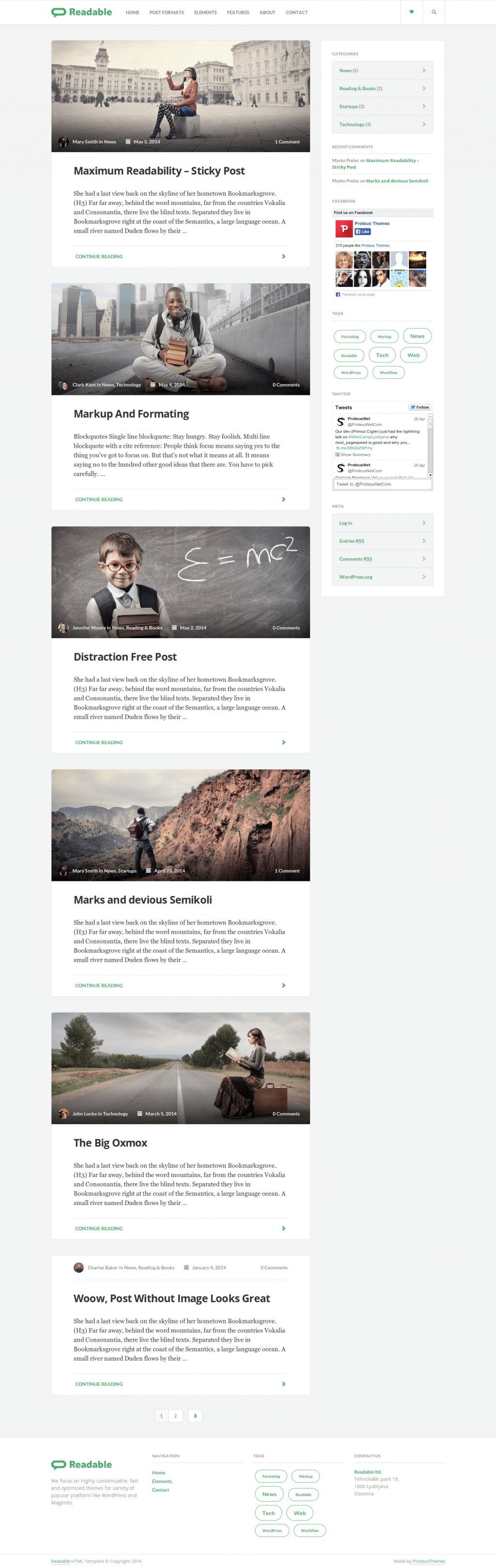 Readable is a premium clean WP theme for blog with impact on best readability possible. It can b ...