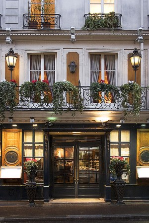 Rita Crane Photography: Paris / historic cafe / night / architecture / lanterns / Left Bank / Le ...