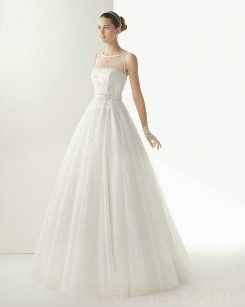 wedding Photo – style 337.00 bridal gown – Style Rosa Clara 174 COMETA Lace And Tull ...