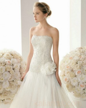wedding Photo – style 356.00 bridal gown – Style Rosa Clara 109 MAGGIE Lace And Tull ...